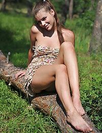 Alluring naked posing